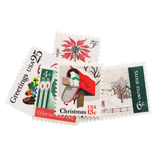 Unused holiday postage stamps