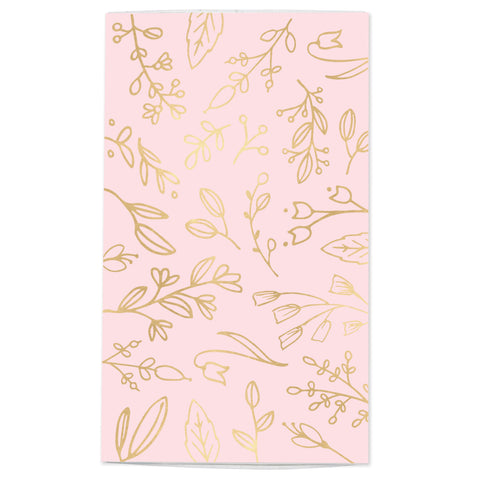 Large Pastel Pink & Gold Floral Match Box