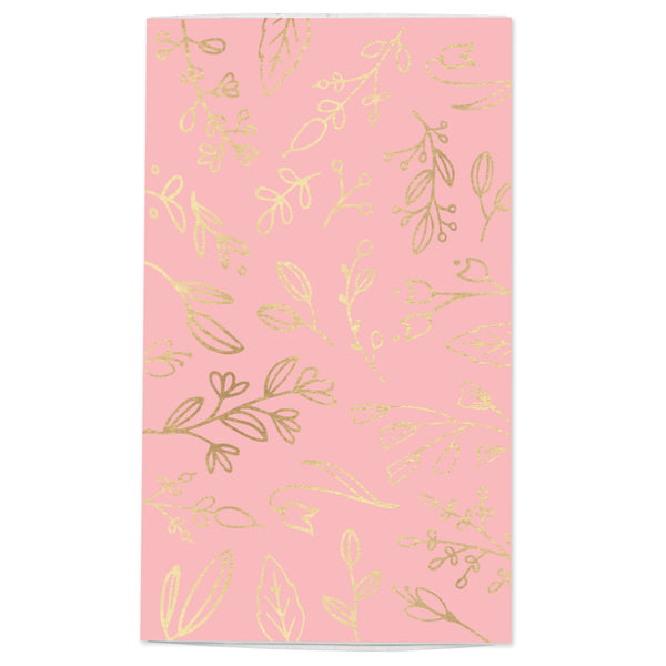 Large Rose Pink & Gold Floral Match Box