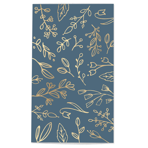 Large Blue & Gold Floral Match Box
