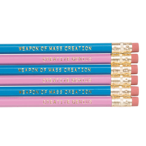 Creative Genius / Weapon of Mass Creation pencils