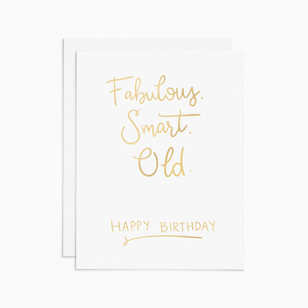 Fabulous, Smart, Old gold foil card