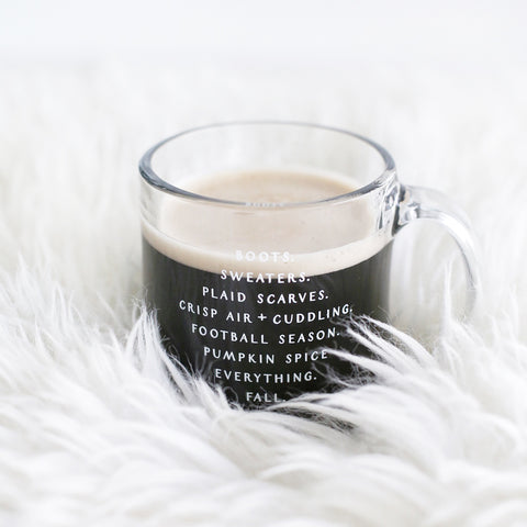 Fall Favorites Glass Mug