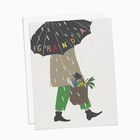 Grandpa Umbrella Card