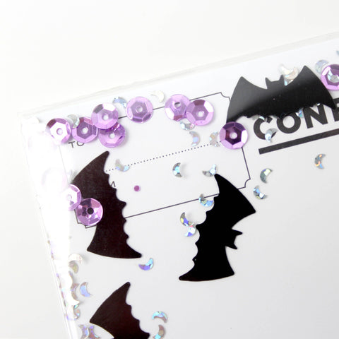 Bats Confettigram Card