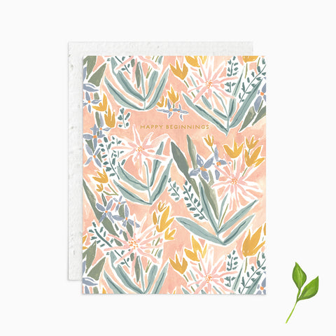Happy Beginnings - Plantable Card