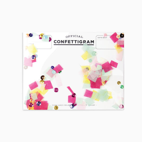Birthday Brights Confettigram Card