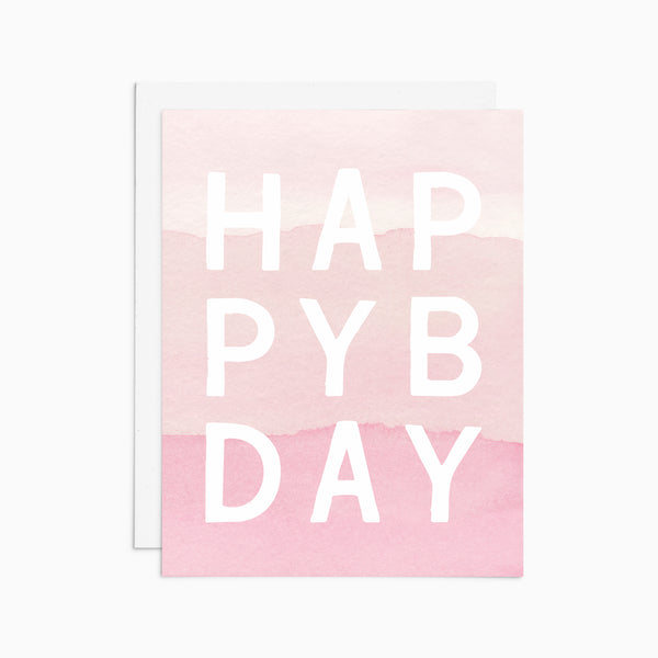 Watercolor Happy Bday Card