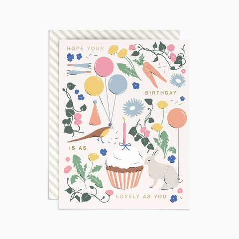 Lovely as You Birthday Card