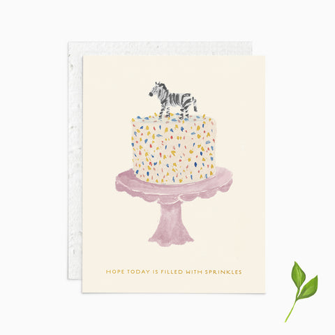 Hope Today is Filled with Sprinkles - Plantable Card
