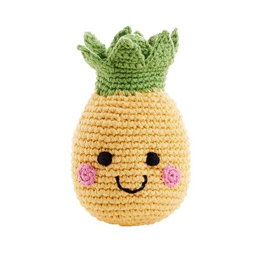 Friendly Crocheted Pineapple Rattle