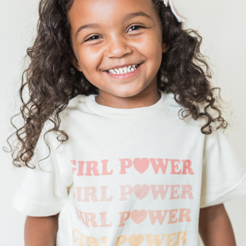Rainbow Girl Power Toddler Tee