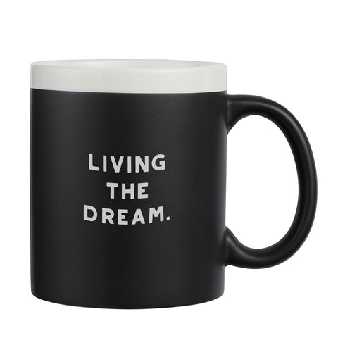 Living The Dream chalkboard mug