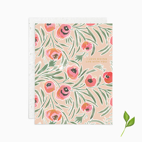 Love Doing Life With You - Plantable Card