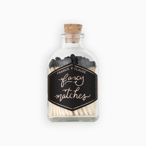 Small Black Match Jar