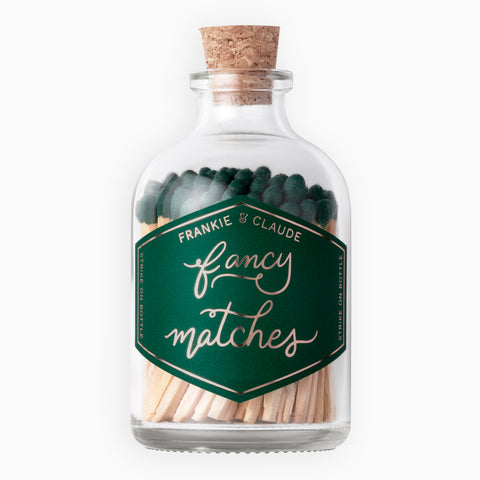 Small Evergreen Match Jar