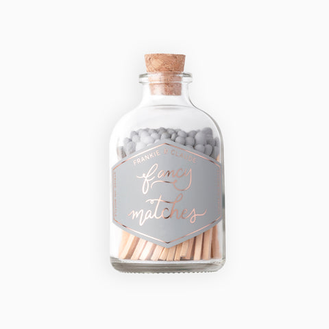 Small Gray Match Jar
