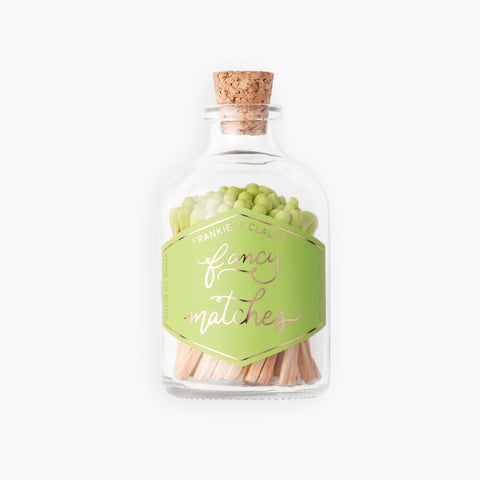 Small Honeydew Match Jar