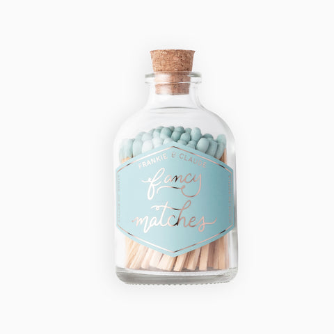 Small Pale Blue Match Jar