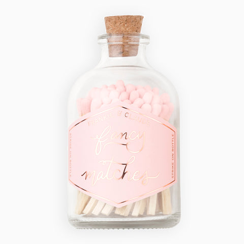 Small Pale Blush Match Jar