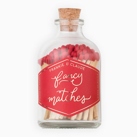Small Red Match Jar