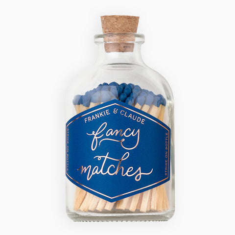 Small Royal Blue Match Jar