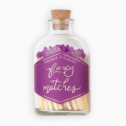 Small Violet Match Jar
