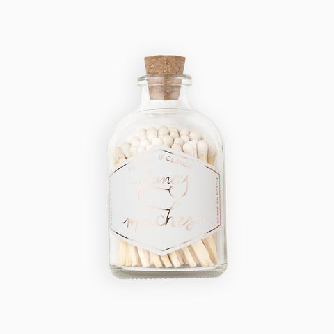 Small White Match Jar
