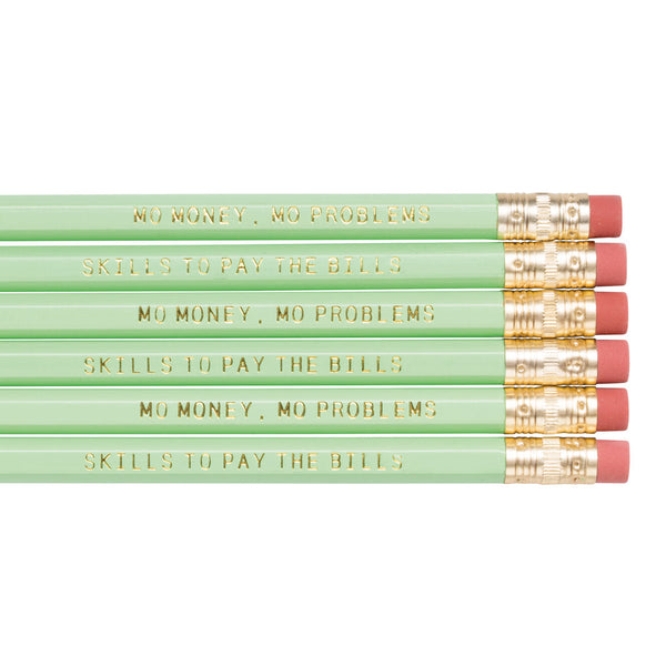 mint green pencil set by Frankie & Claude
