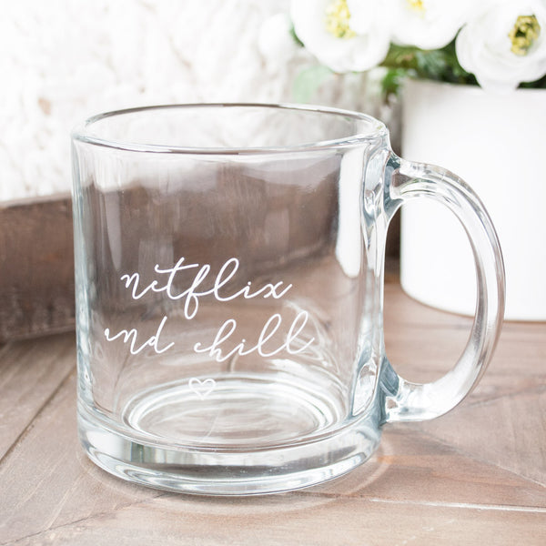 Netflix Chill Glass Mug Frankie Amp Claude