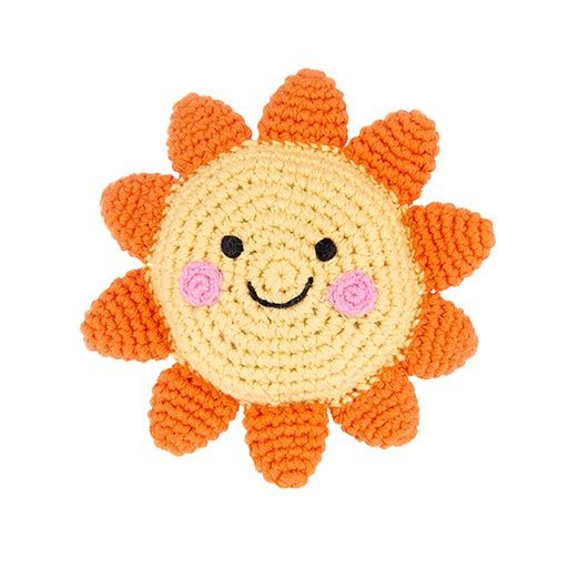 Friendly Crocheted Sun Rattle