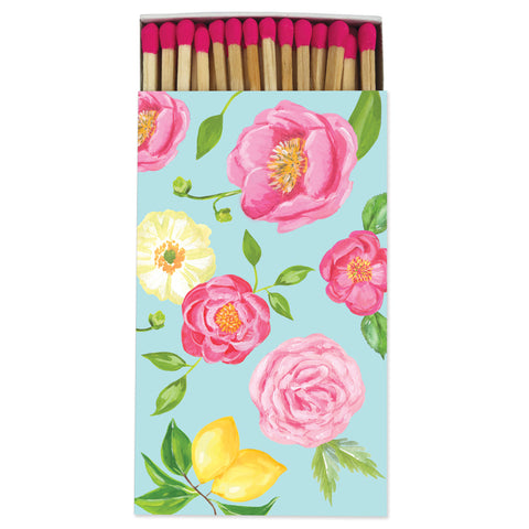 Large Floral Match Box