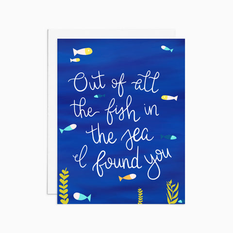 Of All the Fish in the Sea Card