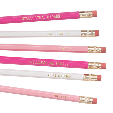 Intellectual Badass / Goal Digger / Hustle pencils