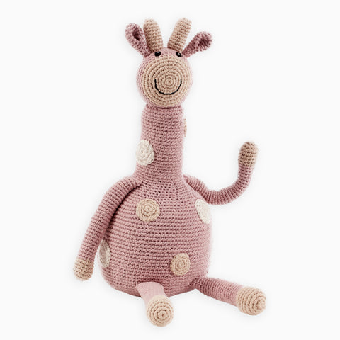Large Organic Crocheted Pink Giraffe