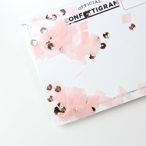 Pink & Gold Confettigram Card