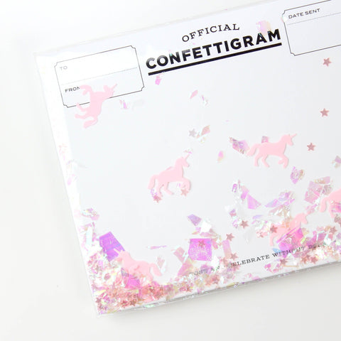 Unicorn Confettigram Card