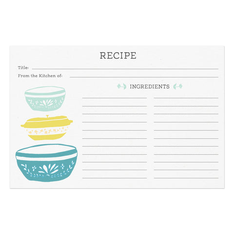 Vintage Kitchen Recipe Cards