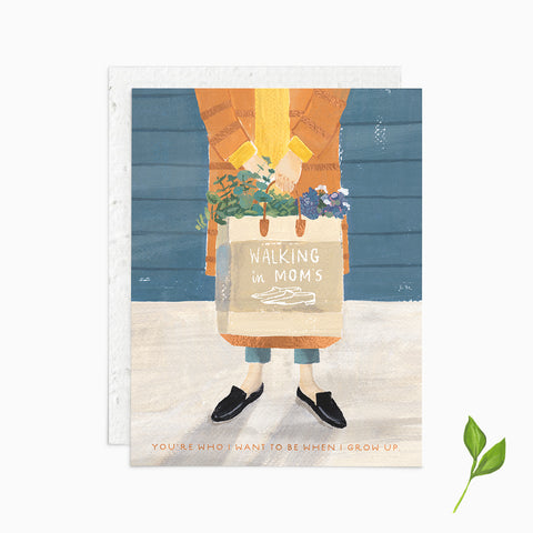 Walking in Mom's Shoes - Plantable Card