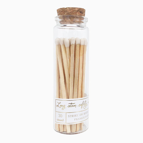 White Long Stem Match Jar