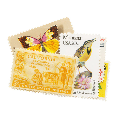 Yellow Vintage Postage