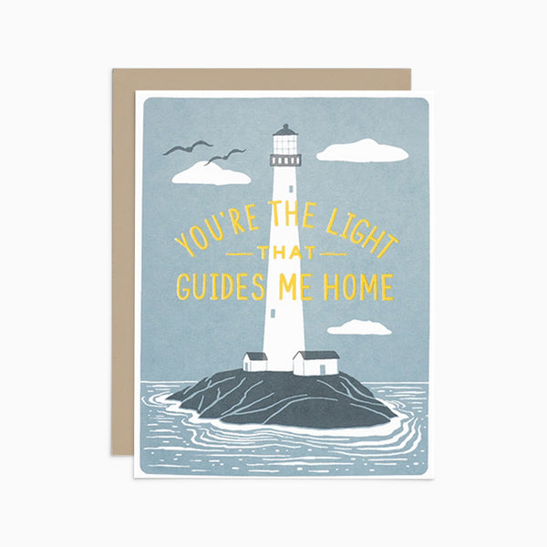 You're The Light That Guides Me Home Card