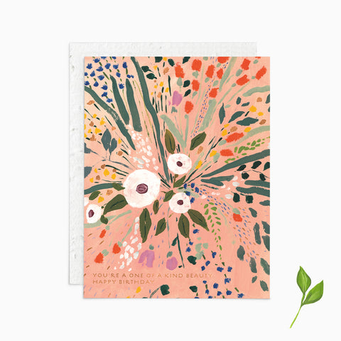 You're a One of a Kind Beauty, Happy Birthday - Plantable Card