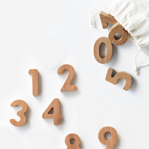 Wooden Number Blocks