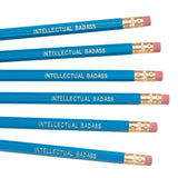 Blue and gold Intellectual Badass pencil set