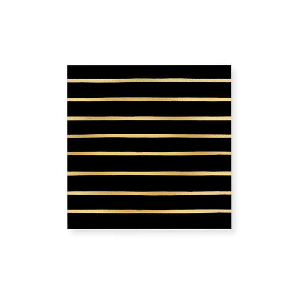 Small Striped Gold Foil Match Box