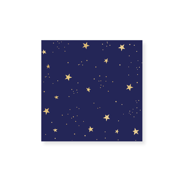 Small Starry Gold Foil Match Box