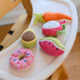Crocheted Dragon Fruit Rattle
