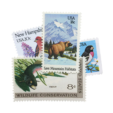Animals + Nature Vintage Postage