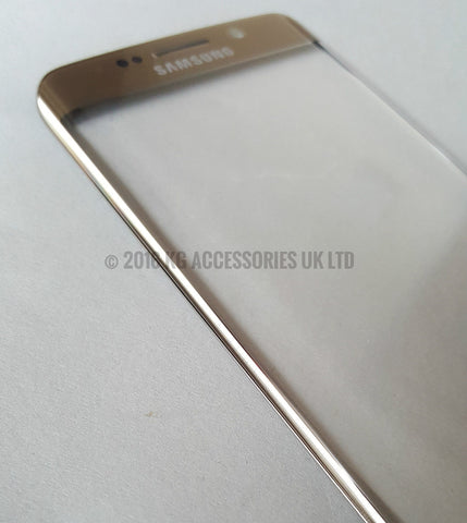 Samsung Galaxy S6 Edge Replacement Screen Front Glass Repair Kit GOLD